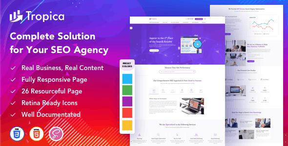 Tropica – Startup Agency SEO Agency Template