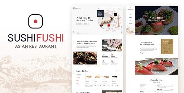 SushiFushi - Japanese & Asian Restaurant HTML Template - Restaurants & Cafes Entertainment