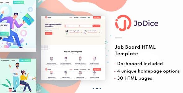 Jodice - Job Board & Marketplace HTML Template