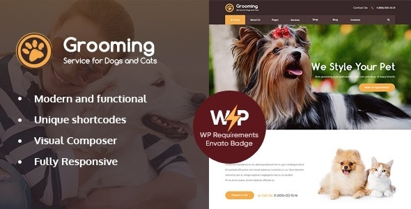 Grooming - Pet Shop & Veterinary Physician WordPress Theme - Retail WordPress