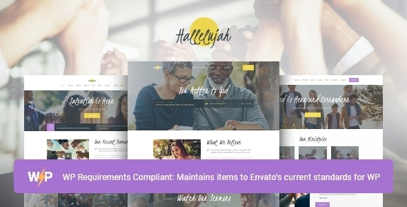 Hallelujah | Church & Religion WordPress Theme - Churches Nonprofit