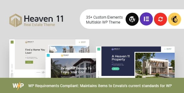 Download Heaven11 | Property & Apartment Real Estate WordPress Theme