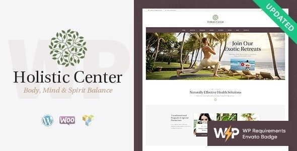 Holistic Center - Wellness and Spa Salon WordPress Theme - Health & Beauty Retail