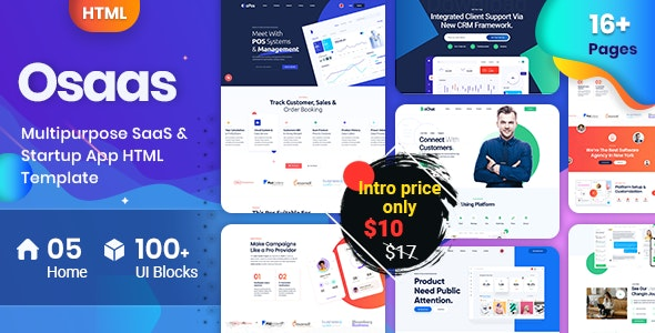 OSaaS - Saas Startup Agency - Technology Site Templates