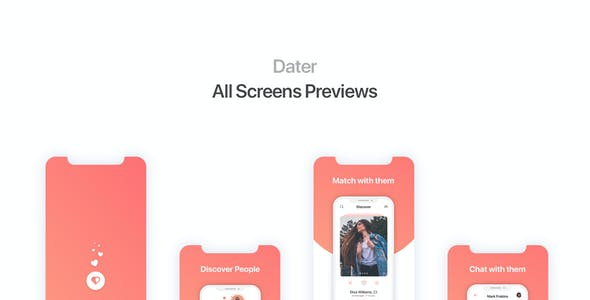 Dater - Figma Dating UI Kit For Mobile App