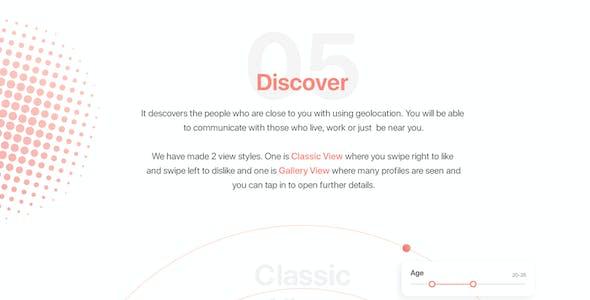 Dater - Adobe XD Dating UI Kit For Mobile App