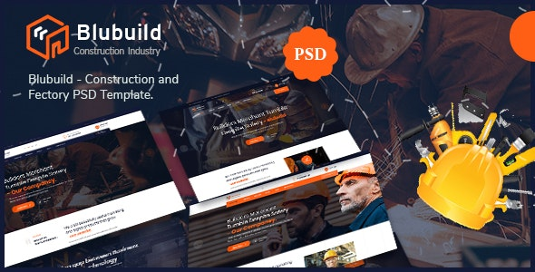 Blubuild - Construction & Factory PSD Template - Corporate Photoshop