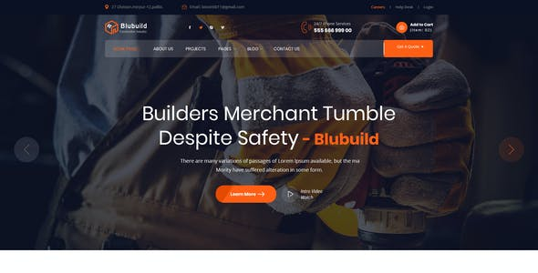 Blubuild - Construction & Factory PSD Template