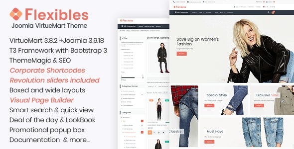 Flexibles - Fashion VirtueMart Template - VirtueMart Joomla