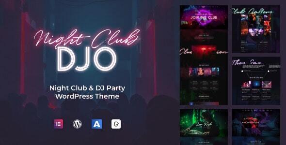 DJO - Night Club and DJ WordPress - Nightlife Entertainment