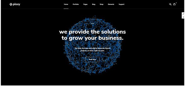 Pixxy  - Landing Page