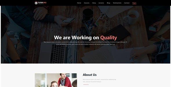 Tutor Pro |  Education WordPress