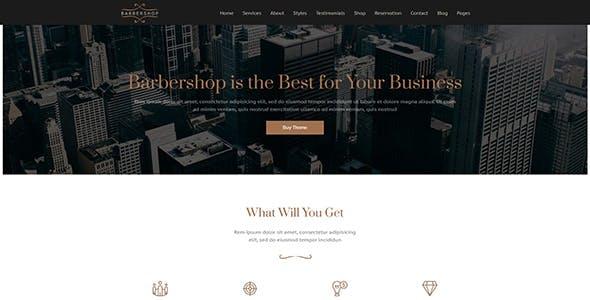 Barbershop   WordPress Theme