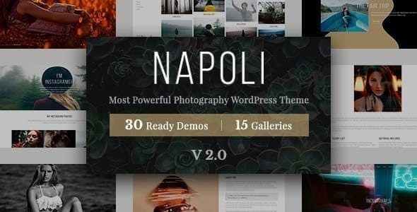 Napoli Photography WordPress - Photography Creative