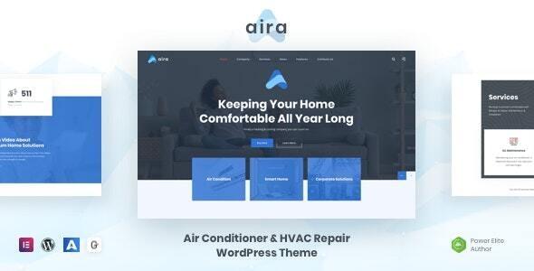 Aira - Conditioning & HVAC Repair WordPress - Business Corporate