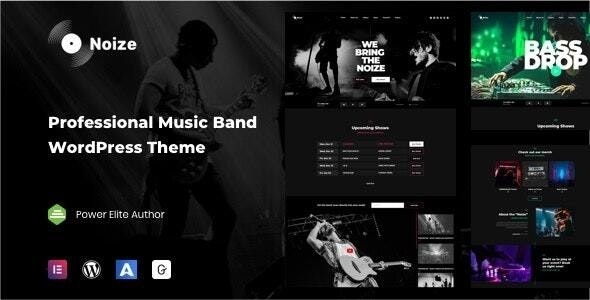 Noize - Music Industry WordPress - Music and Bands Entertainment
