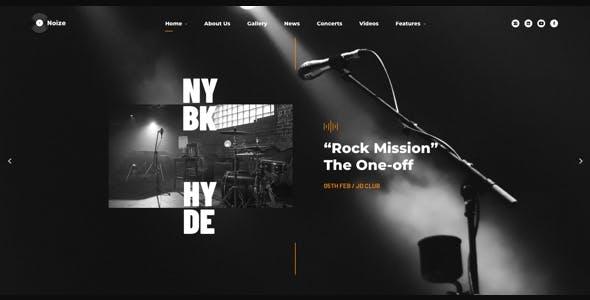 Noize - Music Industry WordPress