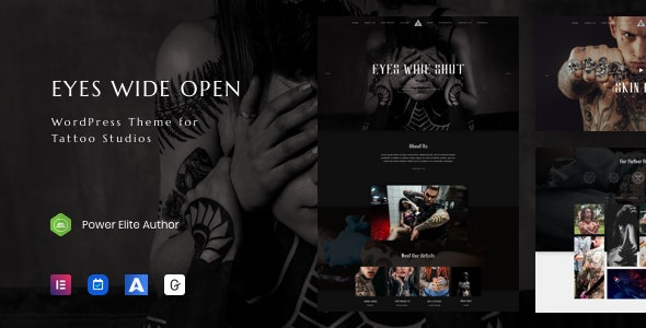 EWO - Tattoo Studio WordPress - Health & Beauty Retail