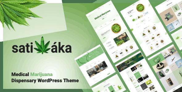 Sativaka - Medical Marijuana Dispensary WordPress