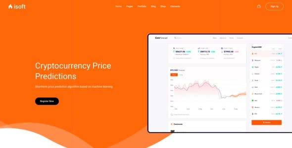Isoft - Landing Page