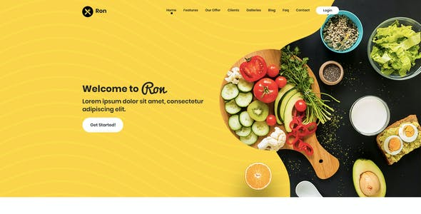 Ron - Restaurant PSD Template