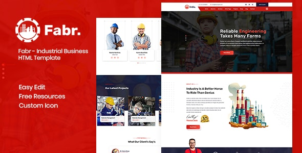 Fabr - Industrial Business HTML Template - Business Corporate