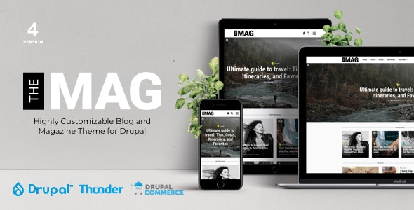 TheMAG - Highly Customizable Blog and Magazine Theme for Drupal - Blog / Magazine Drupal