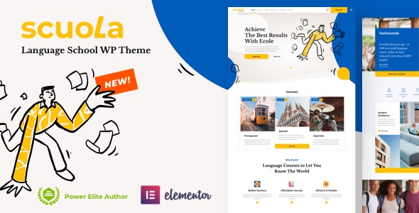 Scuola - Language School WordPress Elementor - Education WordPress