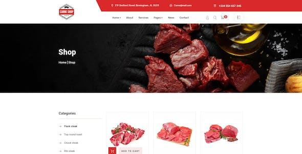 Carne - Meat Shop PSD Template