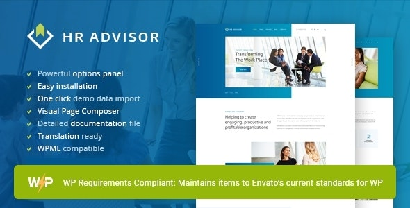 HR Advisor | Human Resources & Recruiting WordPress Theme - Business Corporate