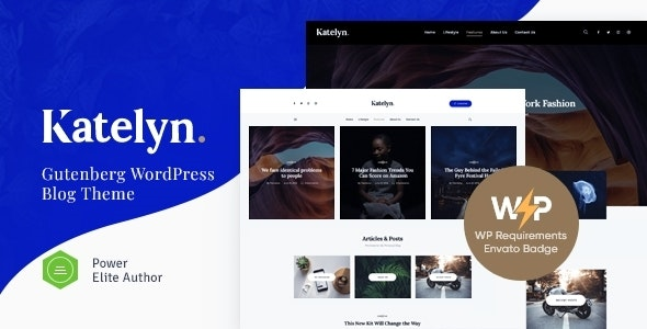 Katelyn   Creative Gutenberg Blog WordPress Theme - Personal Blog / Magazine