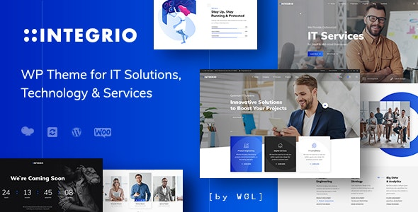 Integrio - IT Solutions and Services Company WordPress Theme - Corporate WordPress