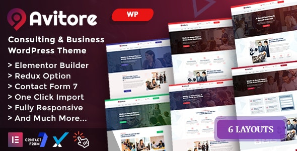 Avitore - Consulting Business WordPress Theme - Business Corporate