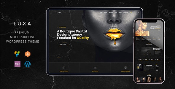 Luxa - Luxury Black MultiPurpose WordPress Theme - Portfolio Creative