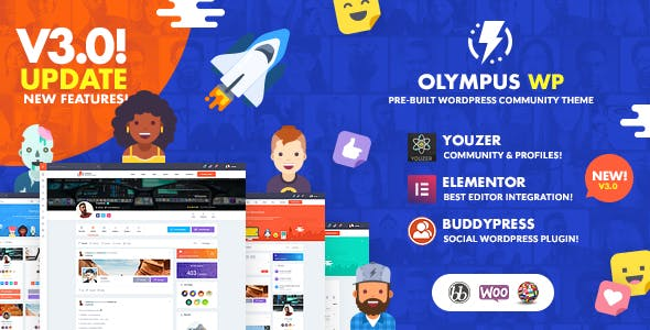 Download Olympus - Social Networking WordPress Theme