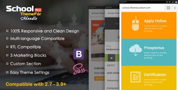 Download School - Exclusive Moodle Theme