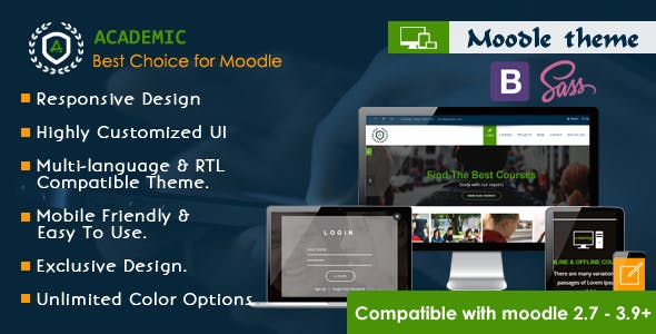 Download Academic - Responsive Moodle Theme