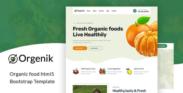 Download Orgenik - Organic Food HTML5 Template