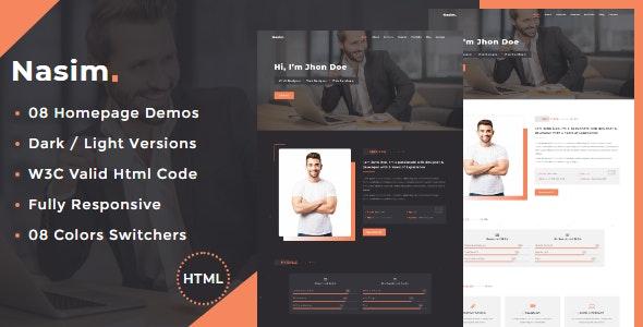 Nasim - Personal Portfolio HTML Template - Portfolio Creative