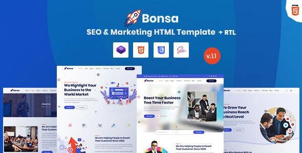 Bonsa - SEO & Marketing Company HTML Template - Marketing Corporate