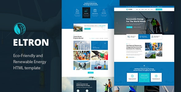 Eltron - Alternative Energy HTML Template - Site Templates