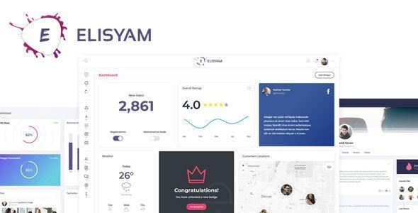 Elisyam - Web App & Admin Dashboard Template - Admin Templates Site Templates