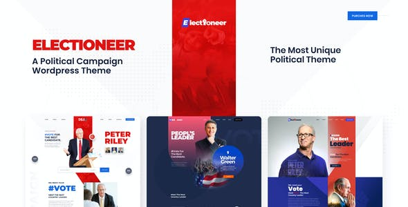 Electioneer-A political campaign and Event Figma Template