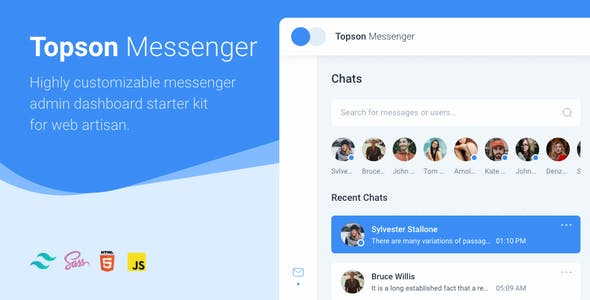 Download Topson - Chat Messenger App HTML Template