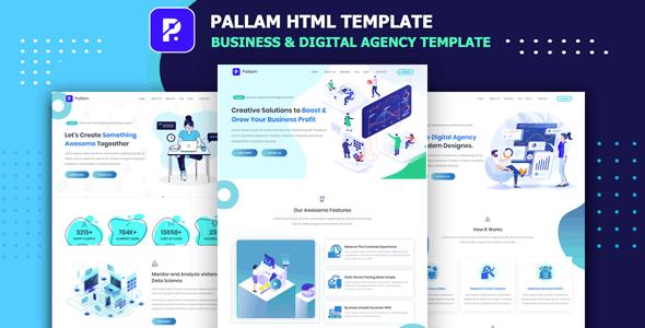 Pallam - Corporate Business & Digital Agency Template - Business Corporate