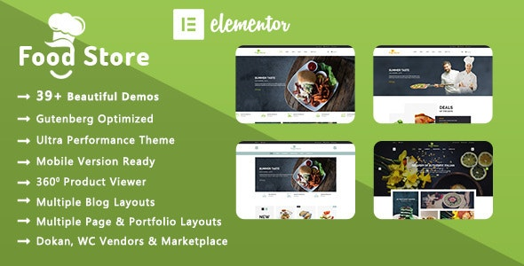 Food Store   Organic & Restaurant WooCommerce WordPress Theme - WooCommerce eCommerce