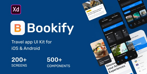 Bookify UI Kit - Travel Retail
