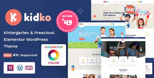 Download Kidko - Kindergarten & Baby Care WordPress Theme + RTL