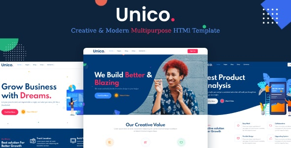 Unico - Multipurpose HTML Template - Corporate Site Templates