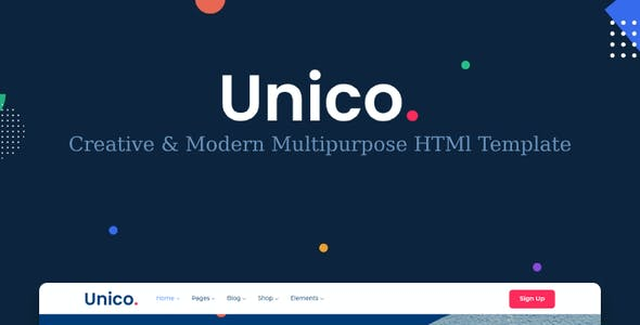 Unico - Multipurpose HTML Template